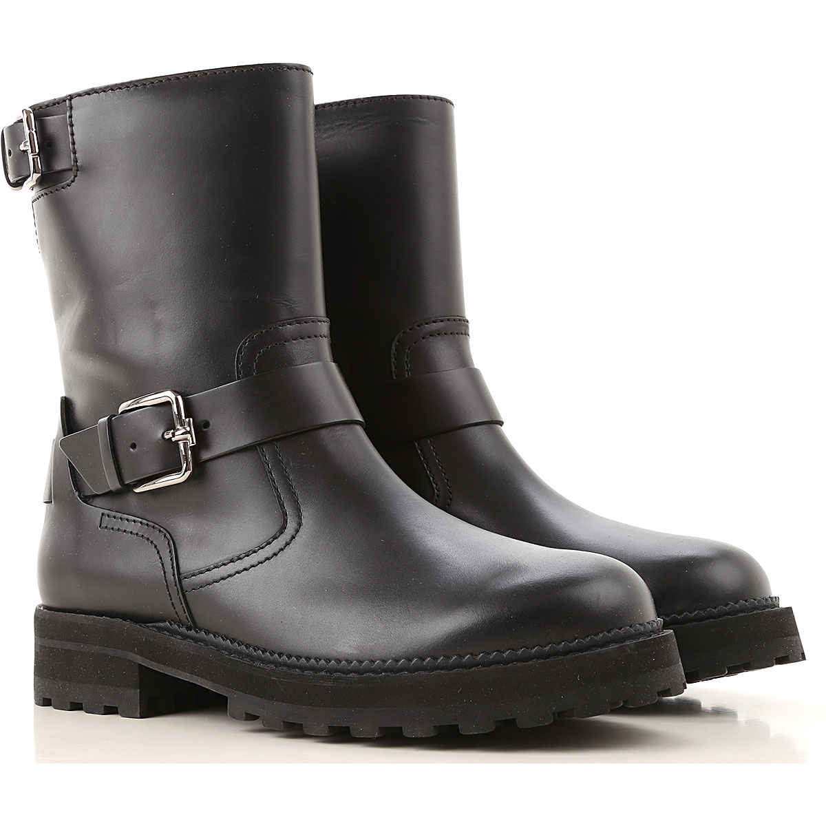 Tods Boots for Women, Booties, Black, Leather, 2019, 10 5 6.5