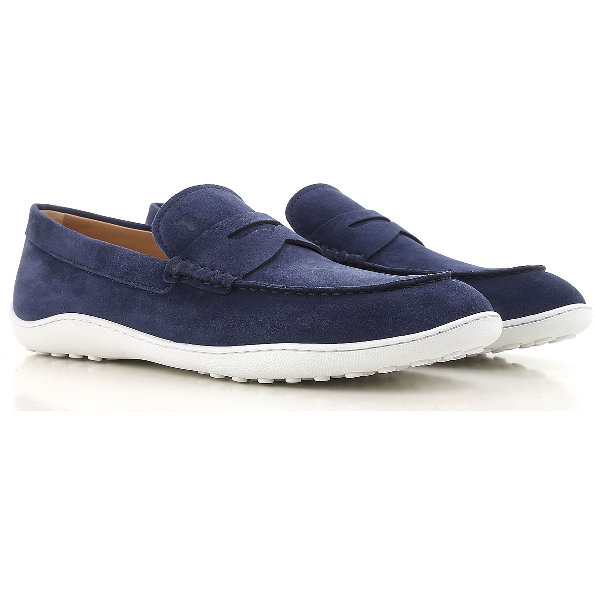 Image of Tods Driver Loafer Shoes for Men, Dark Blue, Suede leather, 2017, 11 7 7.5 8 9
