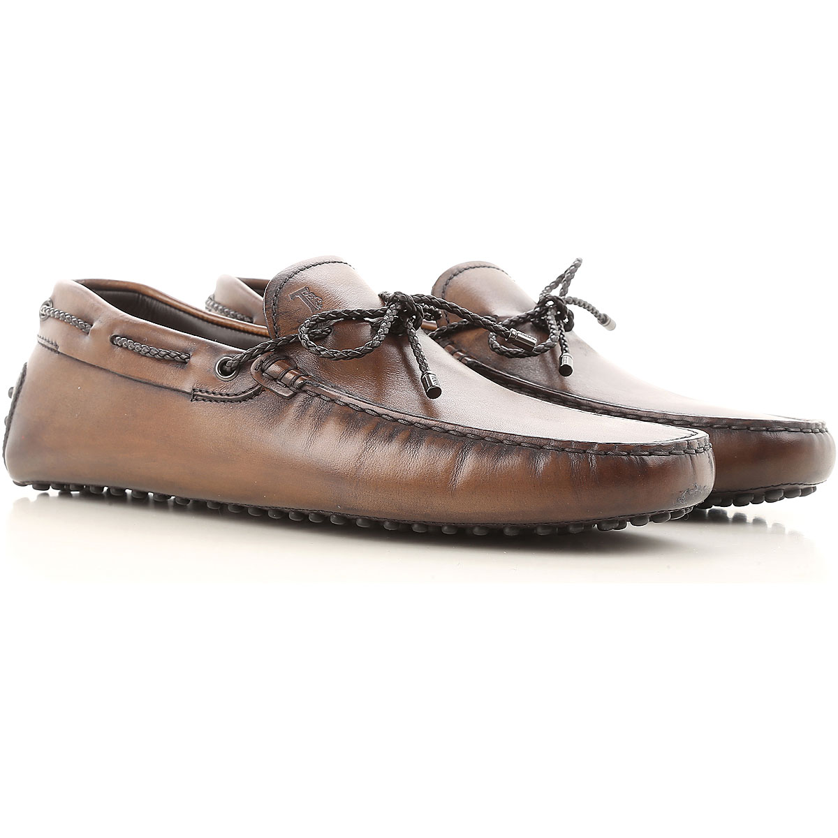 Image of Tods Driver Loafer Shoes for Men, Cocoa, Leather, 2017, 11 11.5 12 7 8 8.5 9 9.5