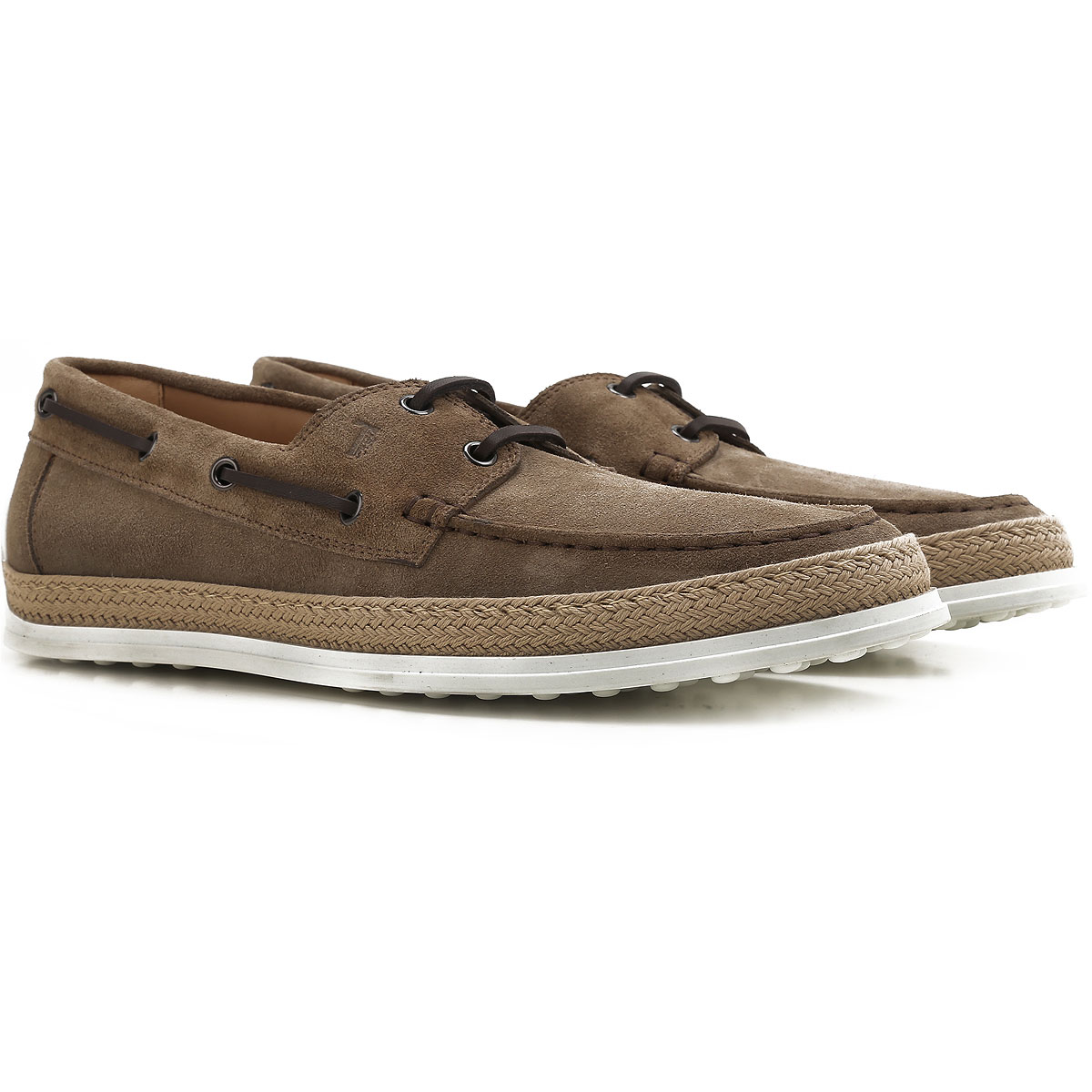 Image of Tods Boat Shoes for Men, Deck Shoes On Sale, Taupe, suede, 2017, 10 11 7 7.5 8