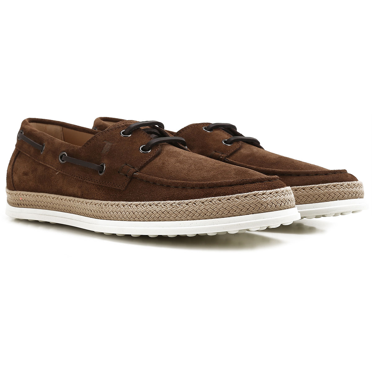Image of Tods Boat Shoes for Men, Deck Shoes On Sale, Tobacco, suede, 2017, 10 10.5 7.5 8.5 9