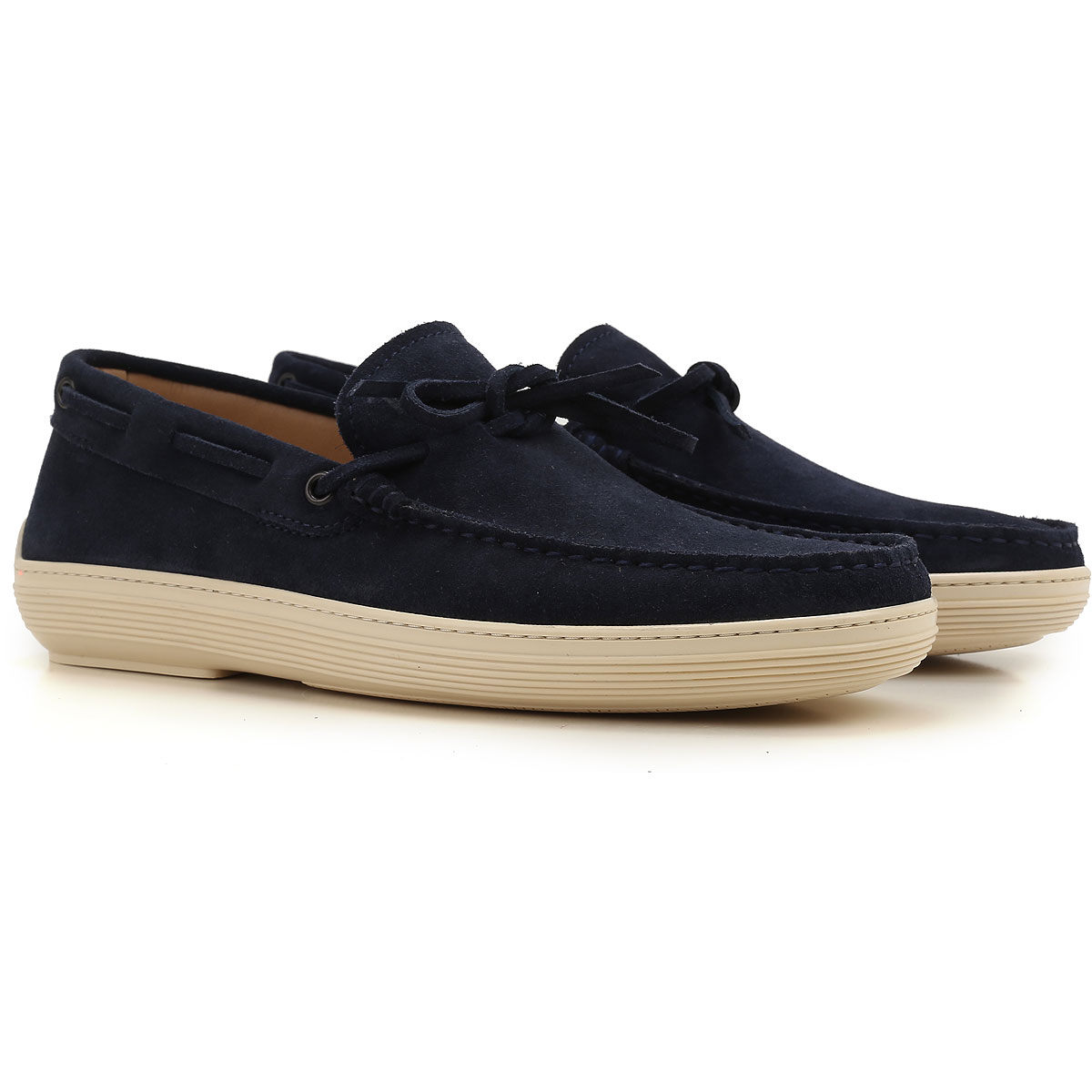 Image of Tods Boat Shoes for Men, Deck Shoes On Sale, Blue, suede, 2017, 11 6.5 7 7.5 8.5 9