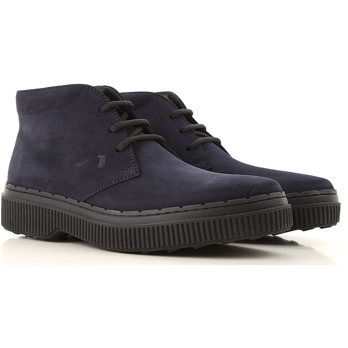 Tods Boots for Men, Booties On Sale, Midnight Blue, Suede leather, 2019, 6 6.5 8