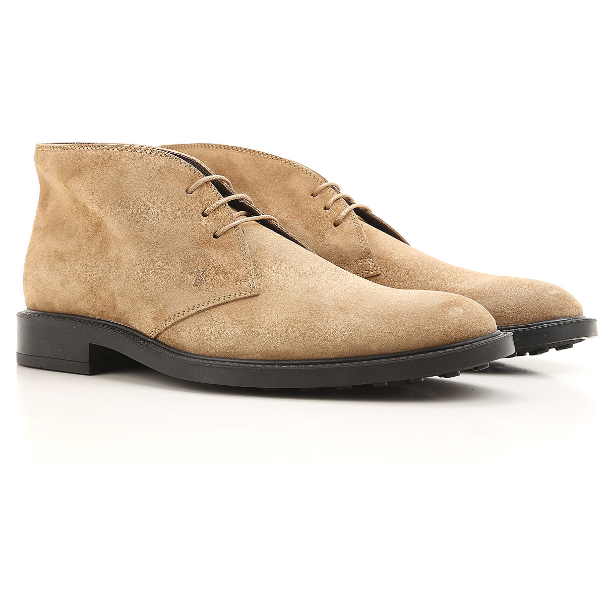 Tods Boots for Men, Booties, Taupe, suede, 2019, 12 13