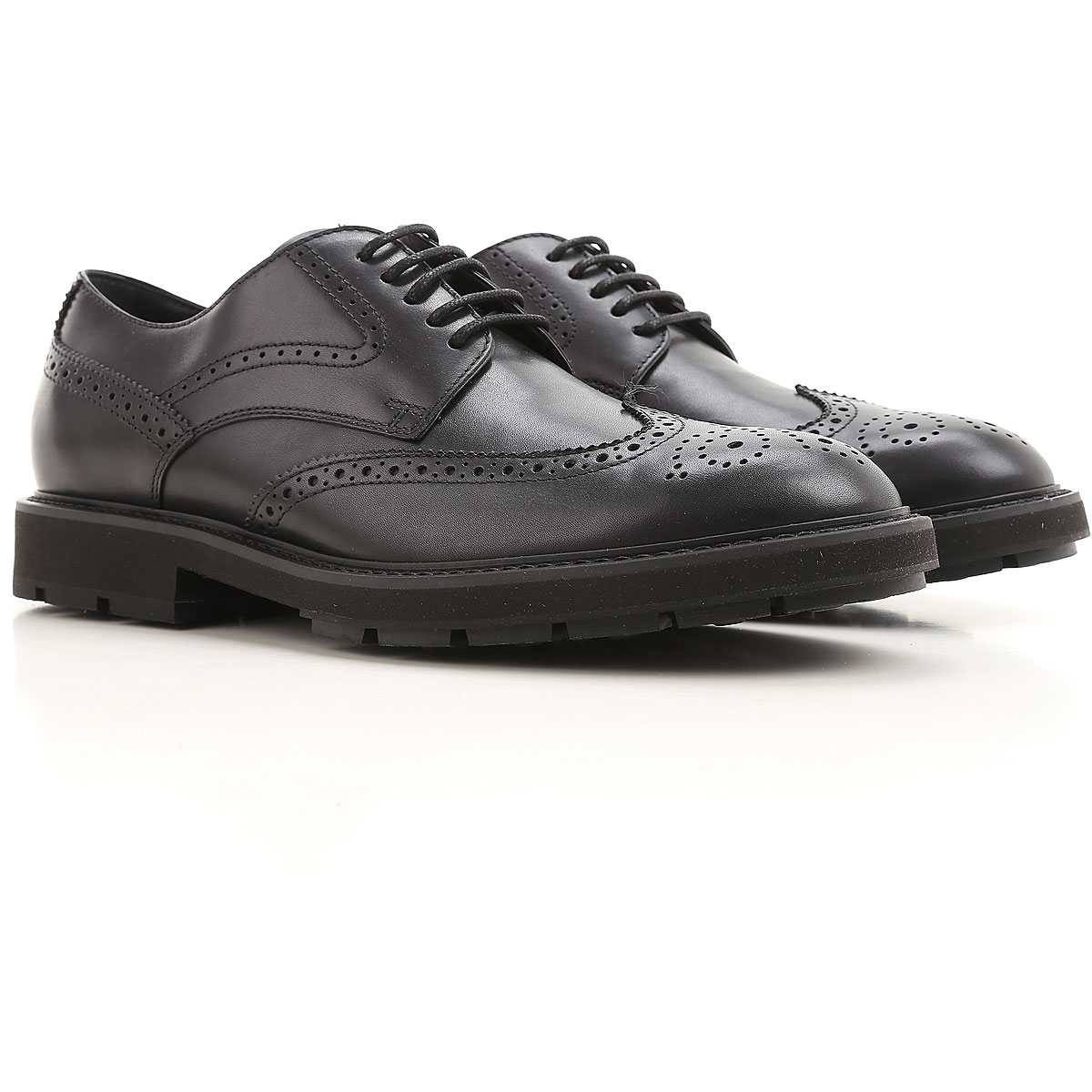 Tods Brogue Shoes, Black, Leather, 2017, 10 11 12 7 8 8.5 9