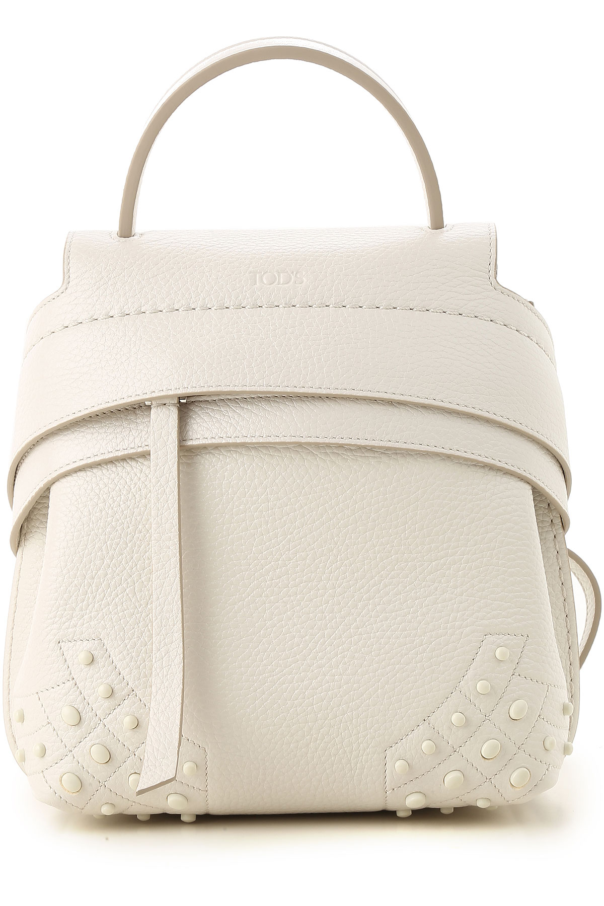 Image of Tods Backpack for Women, White, Leather, 2017