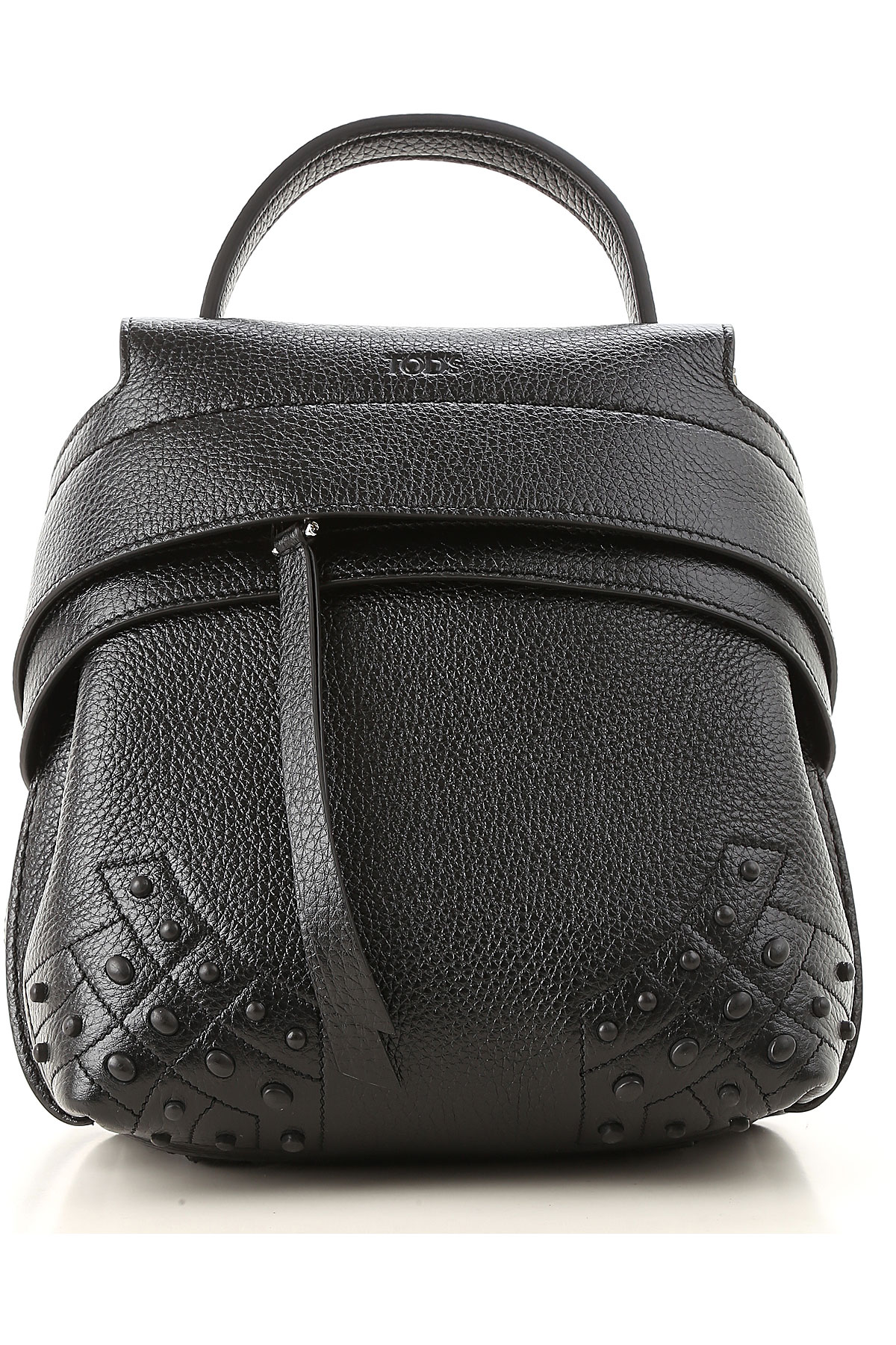 Image of Tods Backpack for Women, Black, Leather, 2017