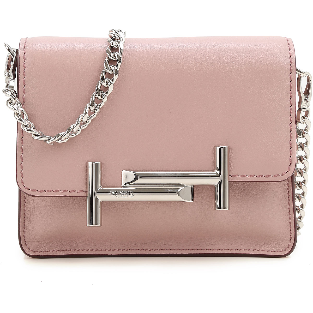 Clutch Bag On Sale, Pink, Leather, 2017, one size Tod's