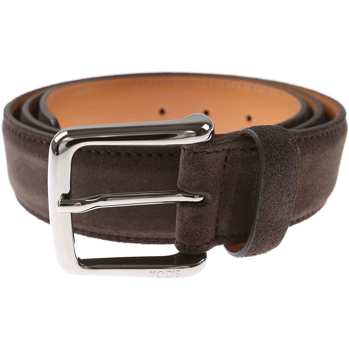 Tods Mens Belts On Sale, Dark Brown, suede, 2017, 32 36 38 40 42 44