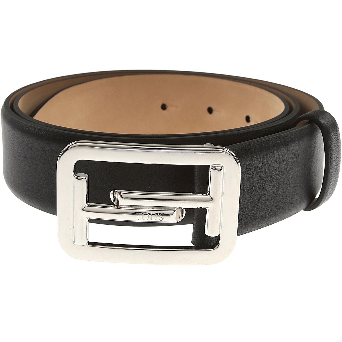 Tods Mens Belts, Black, Leather, 2017, 36 38 40 42 44 46 48