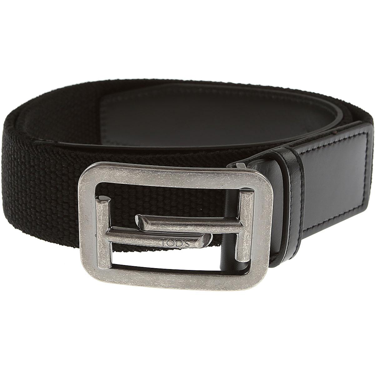 Tods Mens Belts, Black, Leather, 2017, 34 36 38 40 42 44