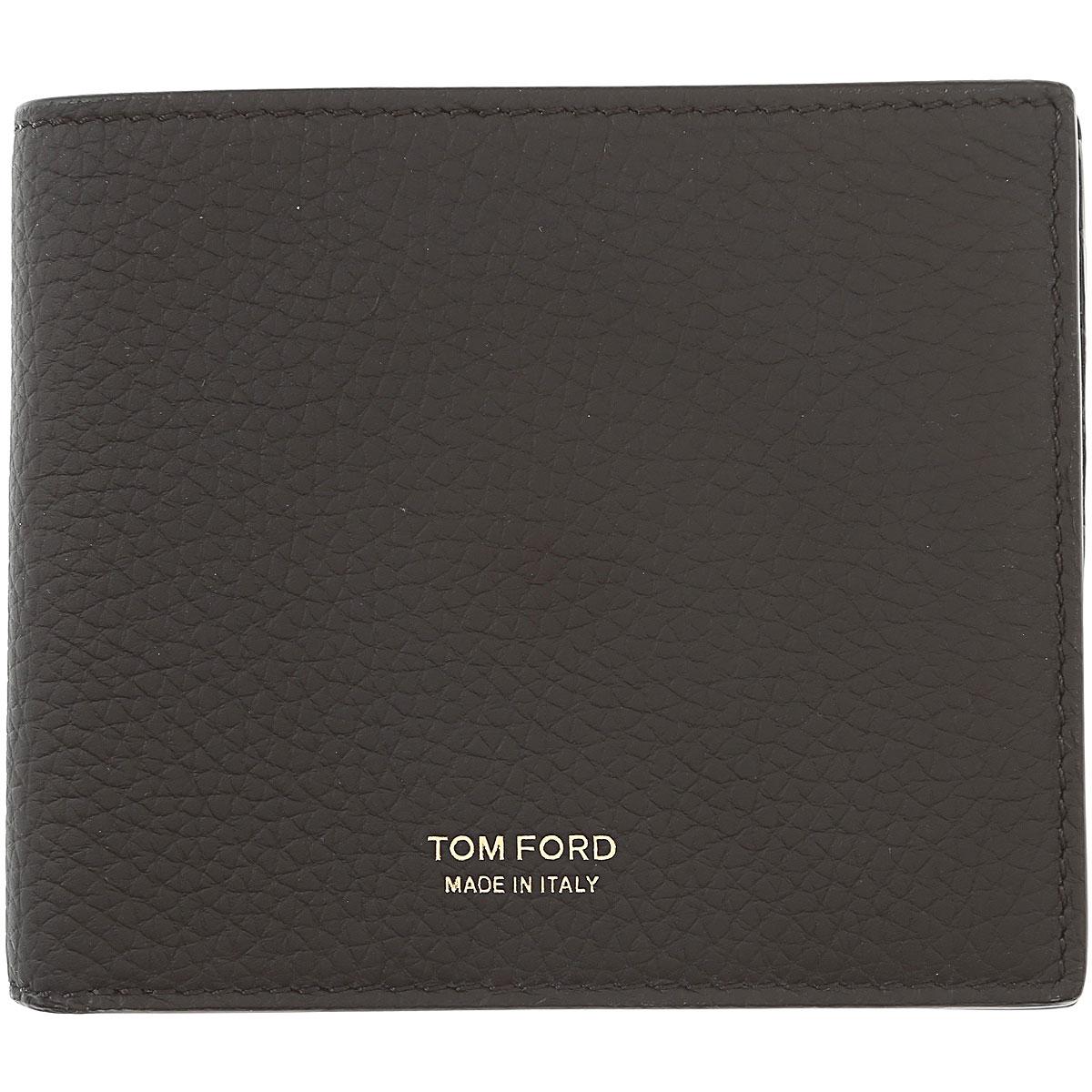 Image of Tom Ford Mens Wallets, Black, Leather, 2017