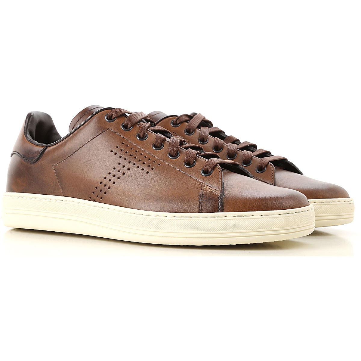 Image of Tom Ford Sneakers for Men, Brown, Leather, 2017, 10 10.5 7 8 9.5