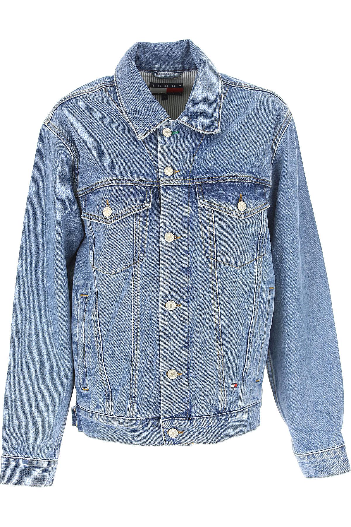 Image of Tommy Hilfiger Jacket for Women On Sale, Denim, Cotton, 2017, 2 4 6 8