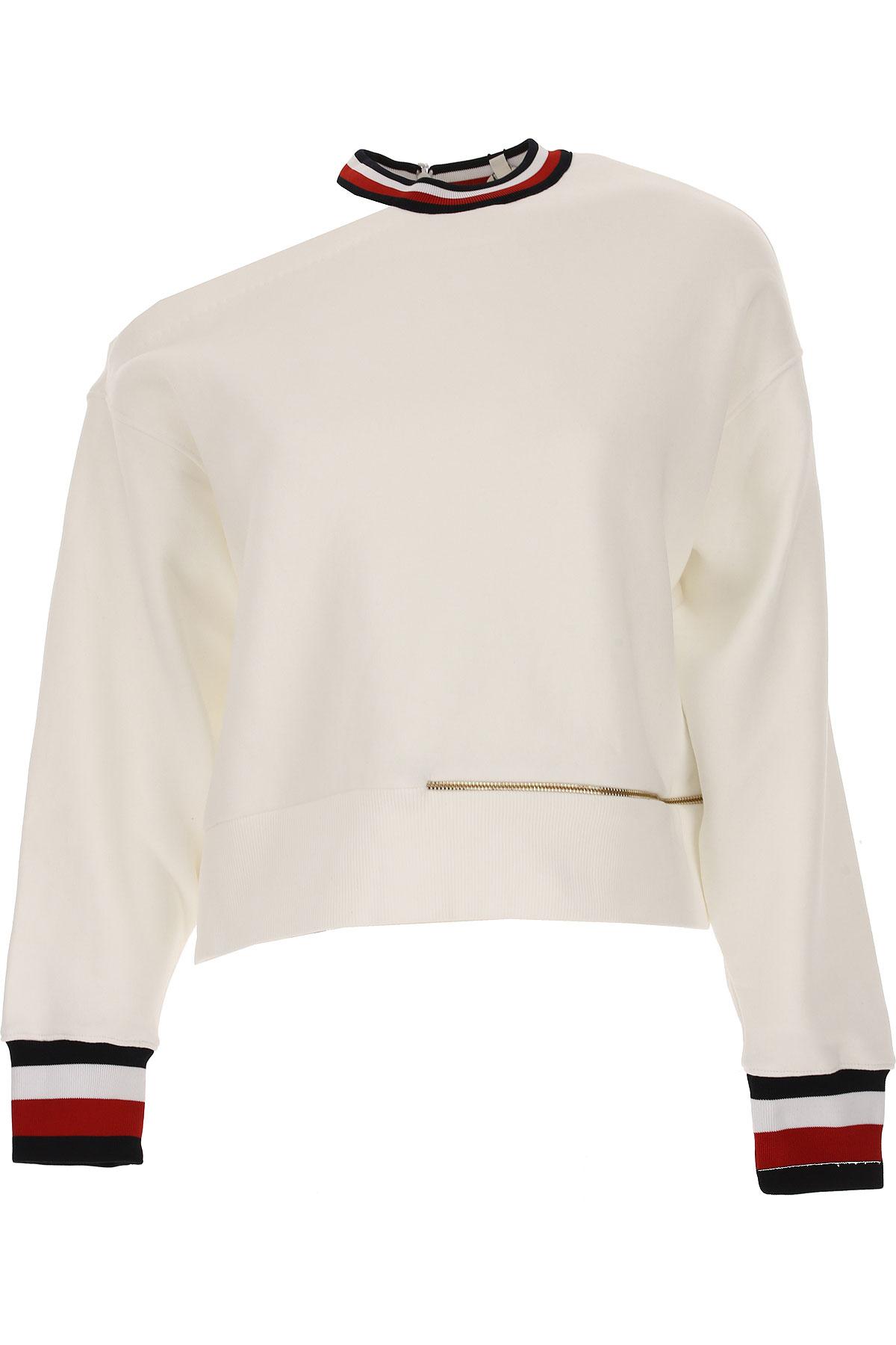 Tommy Hilfiger Sweatshirt for Women, White, Cotton, 2017, 2 4 8 USA-448861