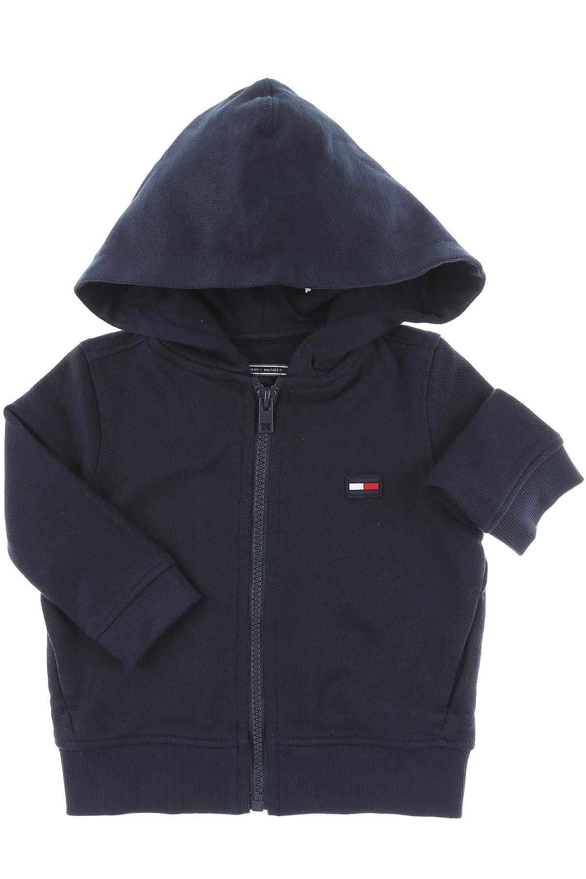 Image of Tommy Hilfiger Baby Sweatshirts & Hoodies for Boys, Navy Blue, Cotton, 2017, 10Y 4Y 6Y 8Y