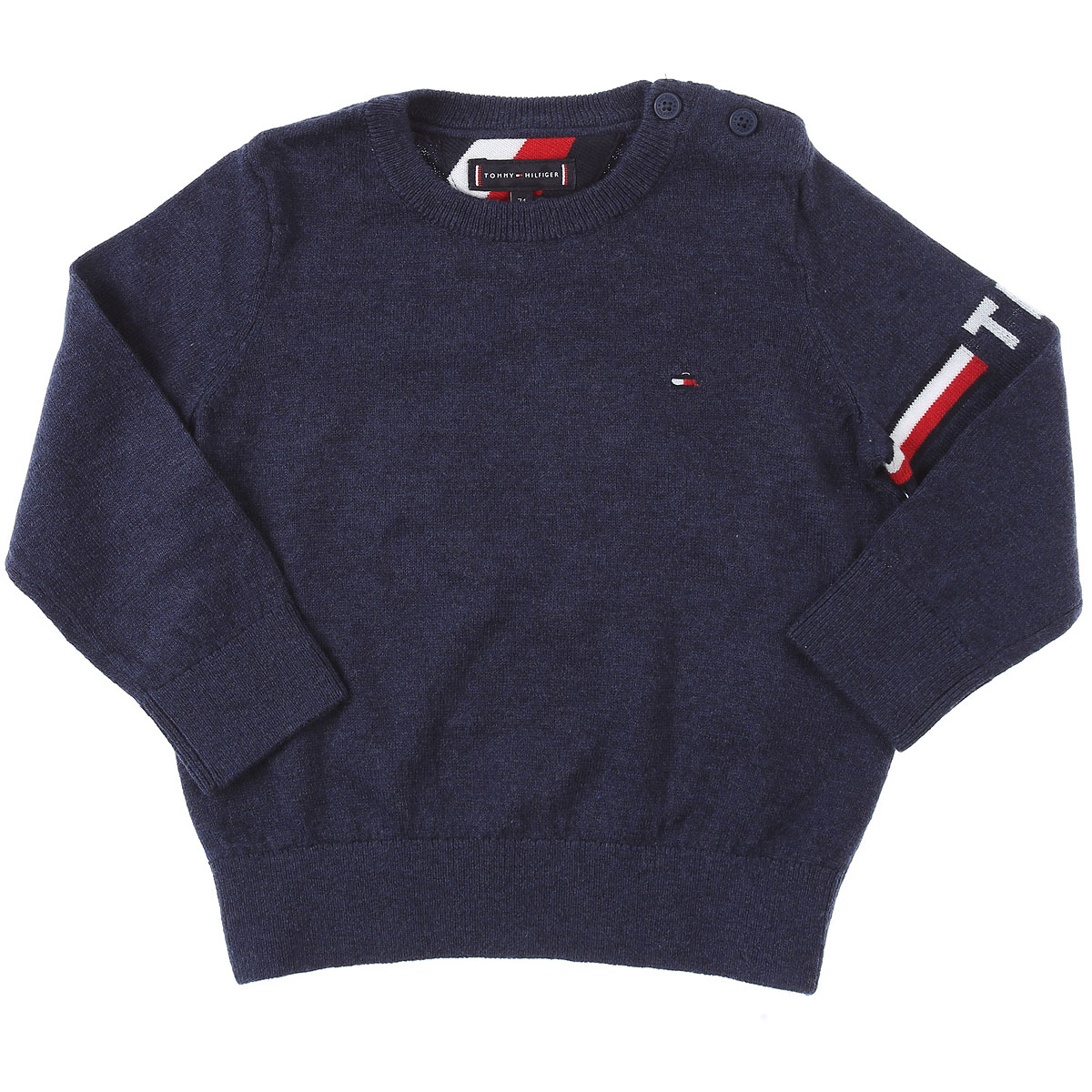 Tommy Hilfiger Baby Sweaters for Boys On Sale, Black Iris, Cotton, 2019, 12 M 2Y 3Y 9M