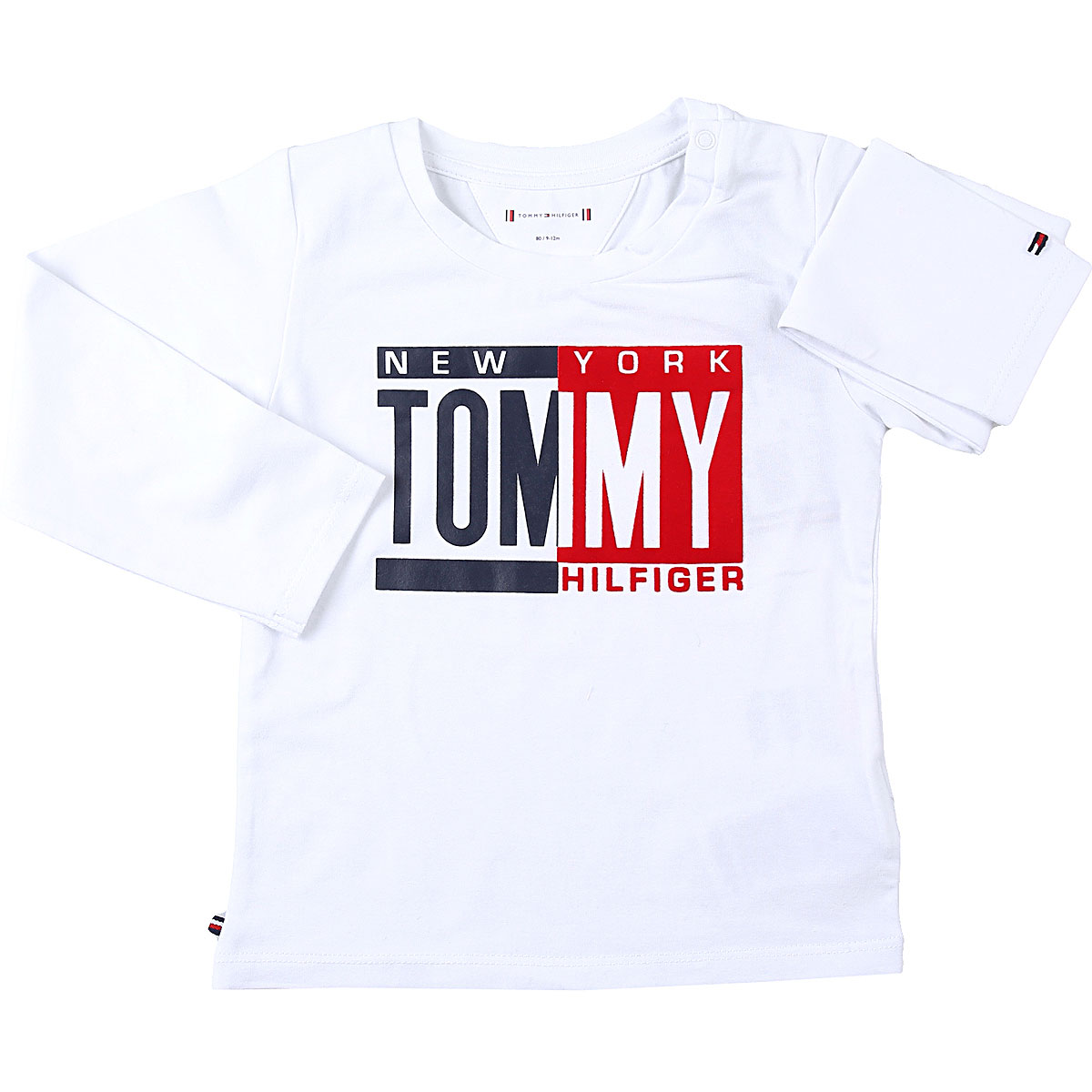 Tommy Hilfiger Baby T-Shirt for Boys On Sale, White, Cotton, 2019, 12 M 18M 2Y 3M 6M 9M