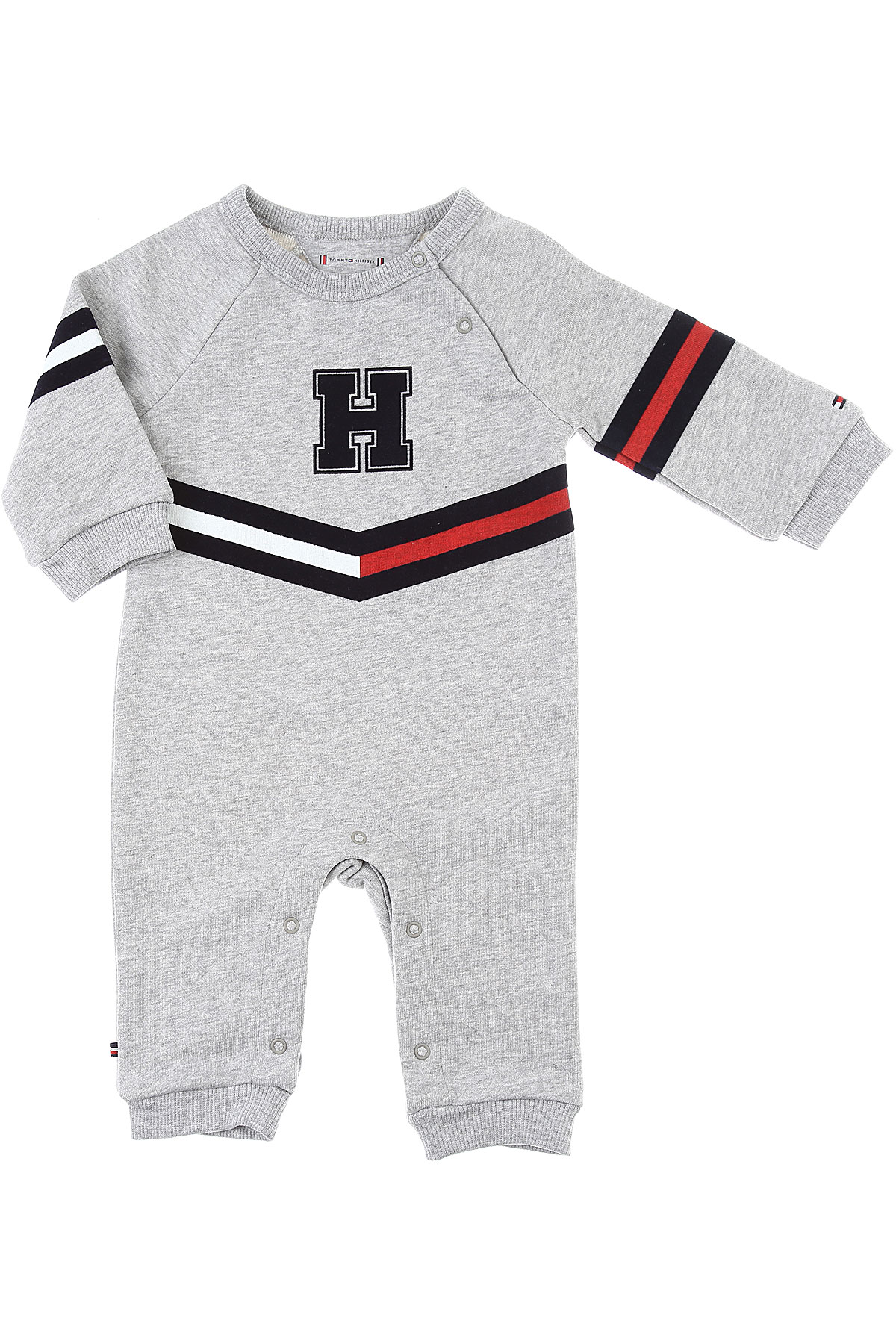 Tommy Hilfiger Baby Bodysuits & Onesies for Boys On Sale, Grey, Cotton, 2019, 1M 6M