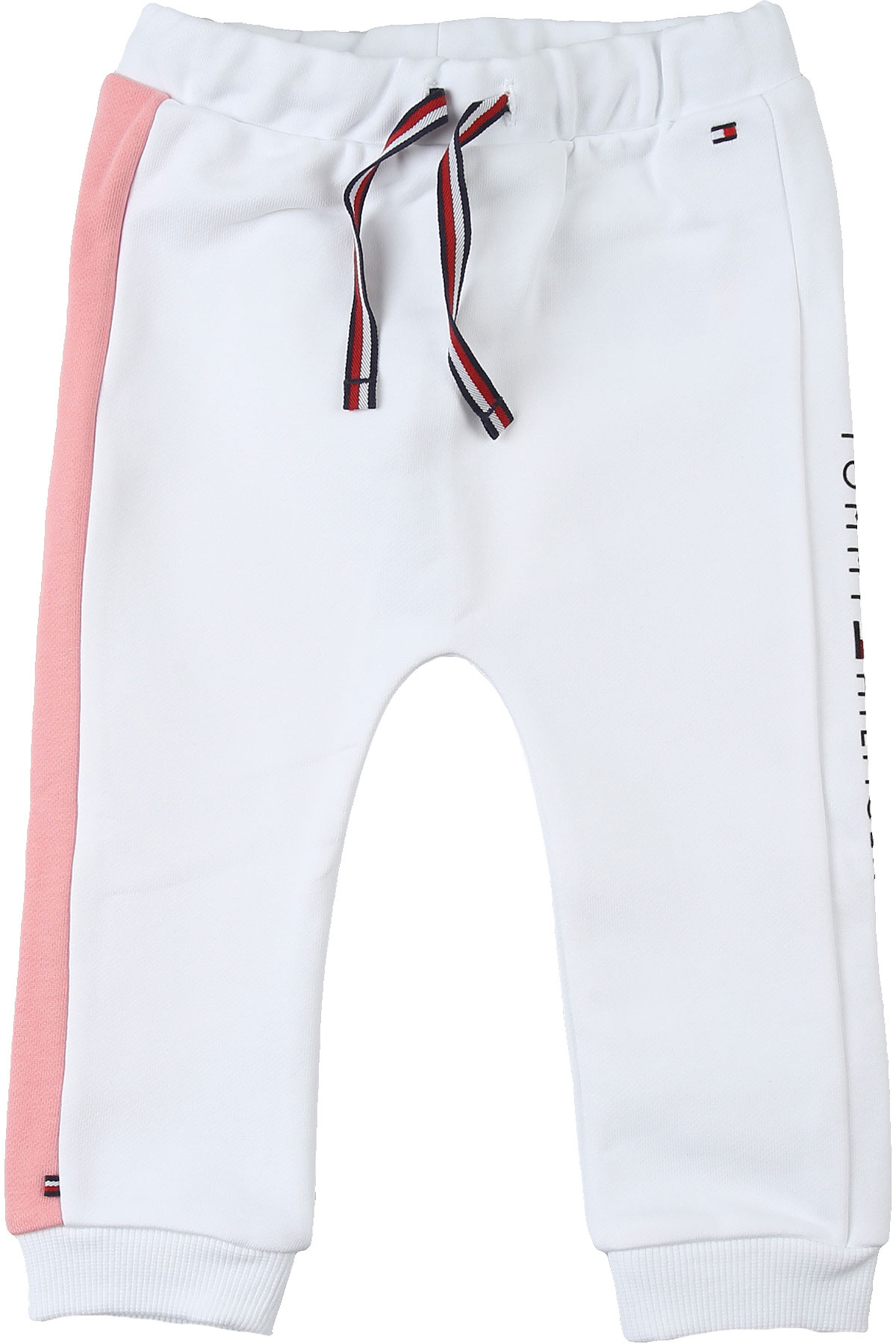 Tommy Hilfiger Baby Sweatpants for Girls On Sale, White, Cotton, 2019, 3Y 6M 9M