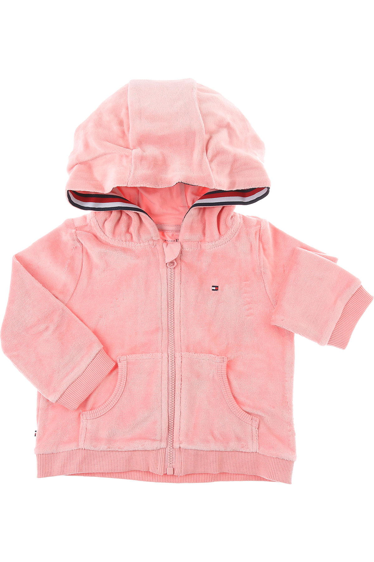Tommy Hilfiger Baby Sweatshirts & Hoodies for Girls On Sale, Pink, Cotton, 2019, 18M 6M 9M