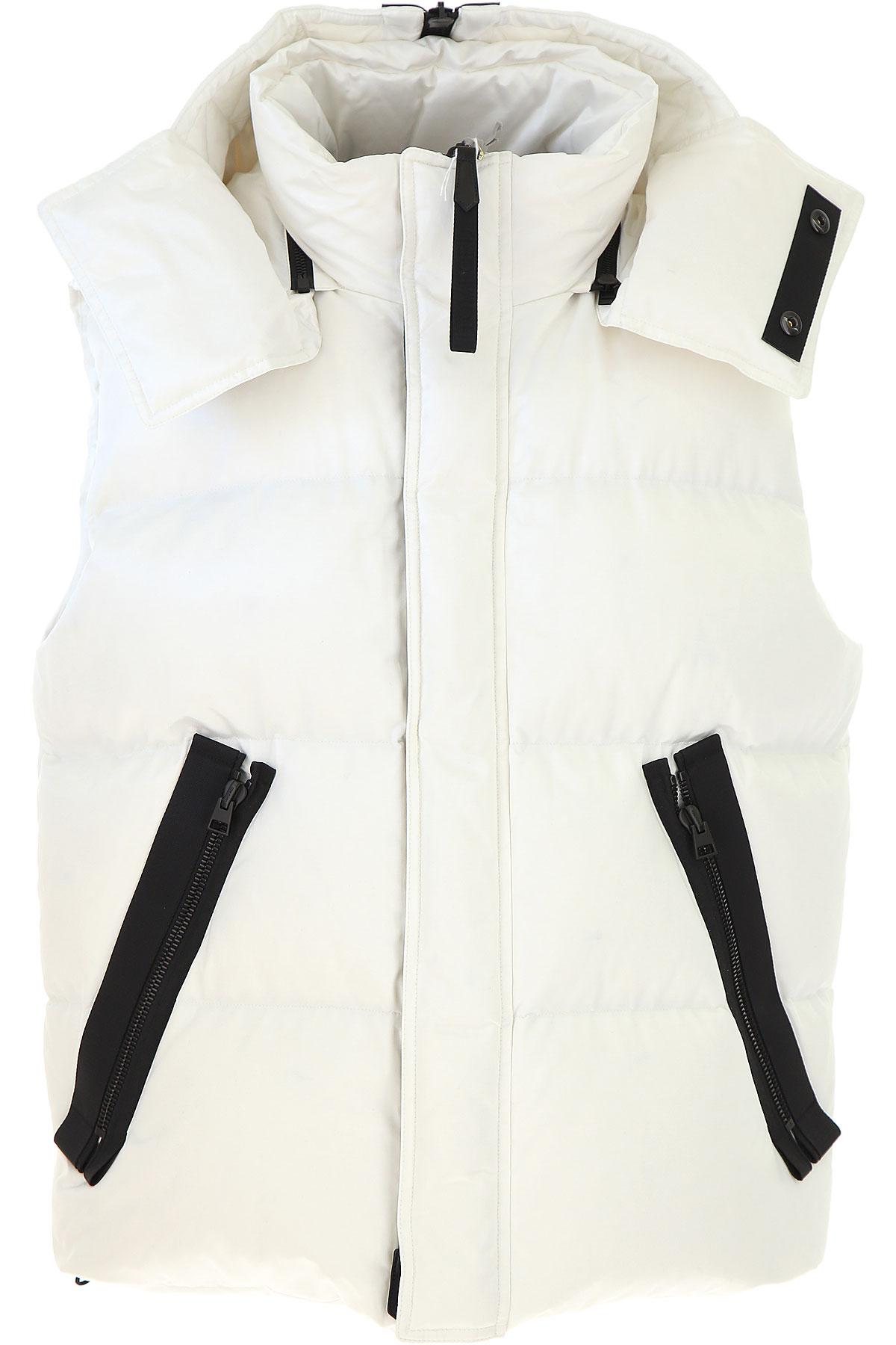 Image of Tom Ford Down Jacket for Men, Puffer Ski Jacket, White, Cotton, 2017, L M XL