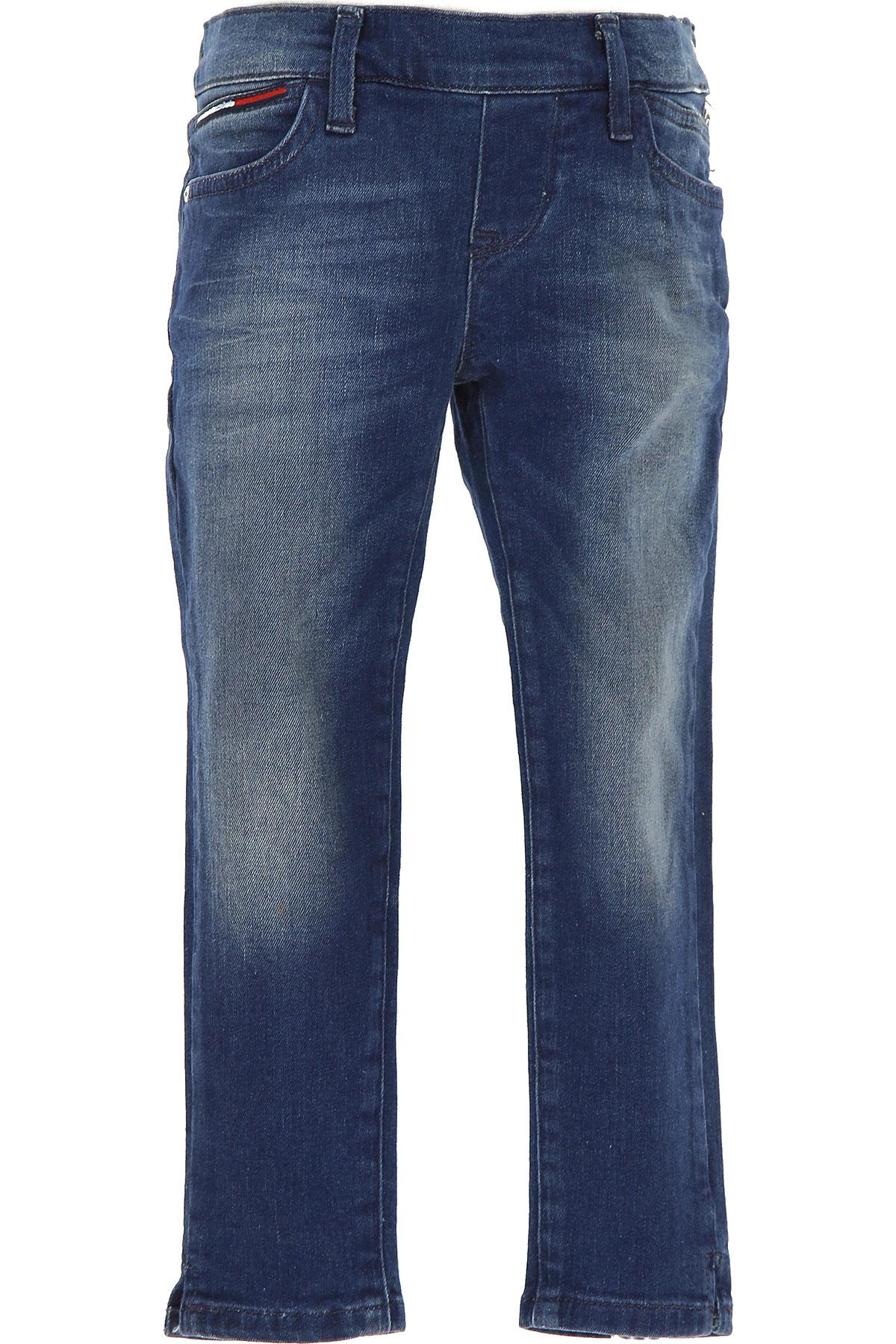 Tommy Hilfiger Kids Jeans for Girls On Sale in Outlet, Denim Blue, Cotton, 2019, 10Y 6Y
