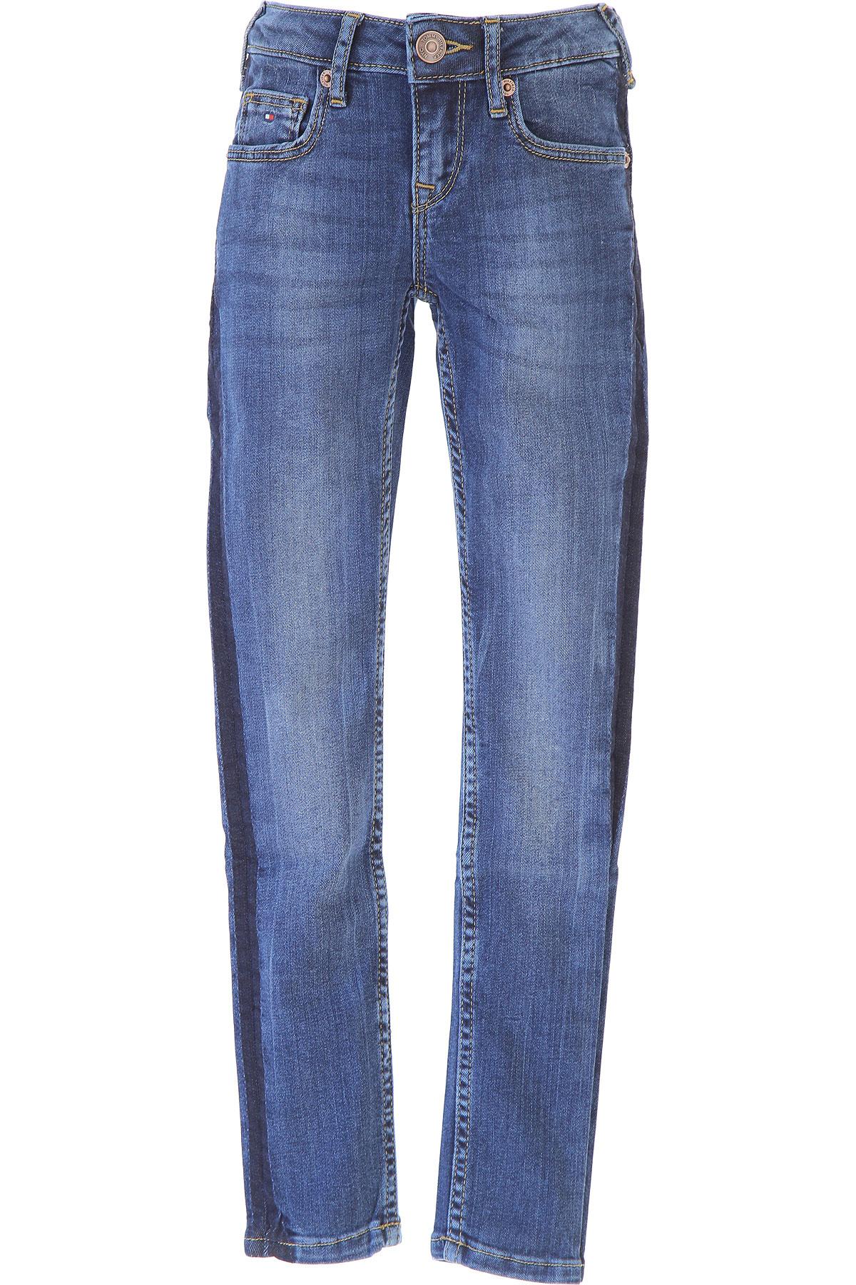 Tommy Hilfiger Kids Jeans for Girls, Blue Denim, Cotton, 2017, 10Y 14Y 16Y 8Y USA-468912