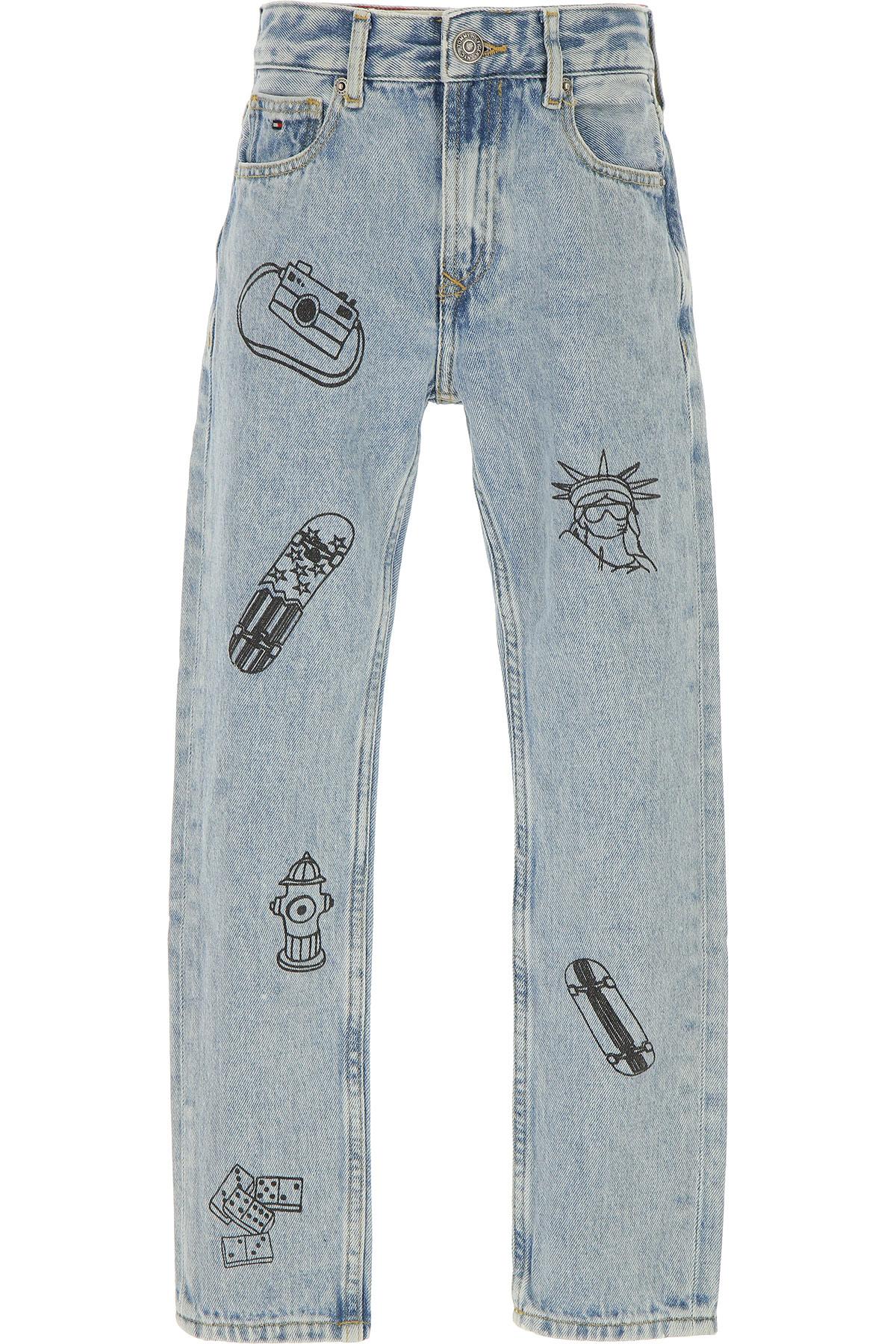 Tommy Hilfiger Kids Jeans for Boys, Light Denim, Cotton, 2017, 10Y 14Y 16Y 8Y USA-471520