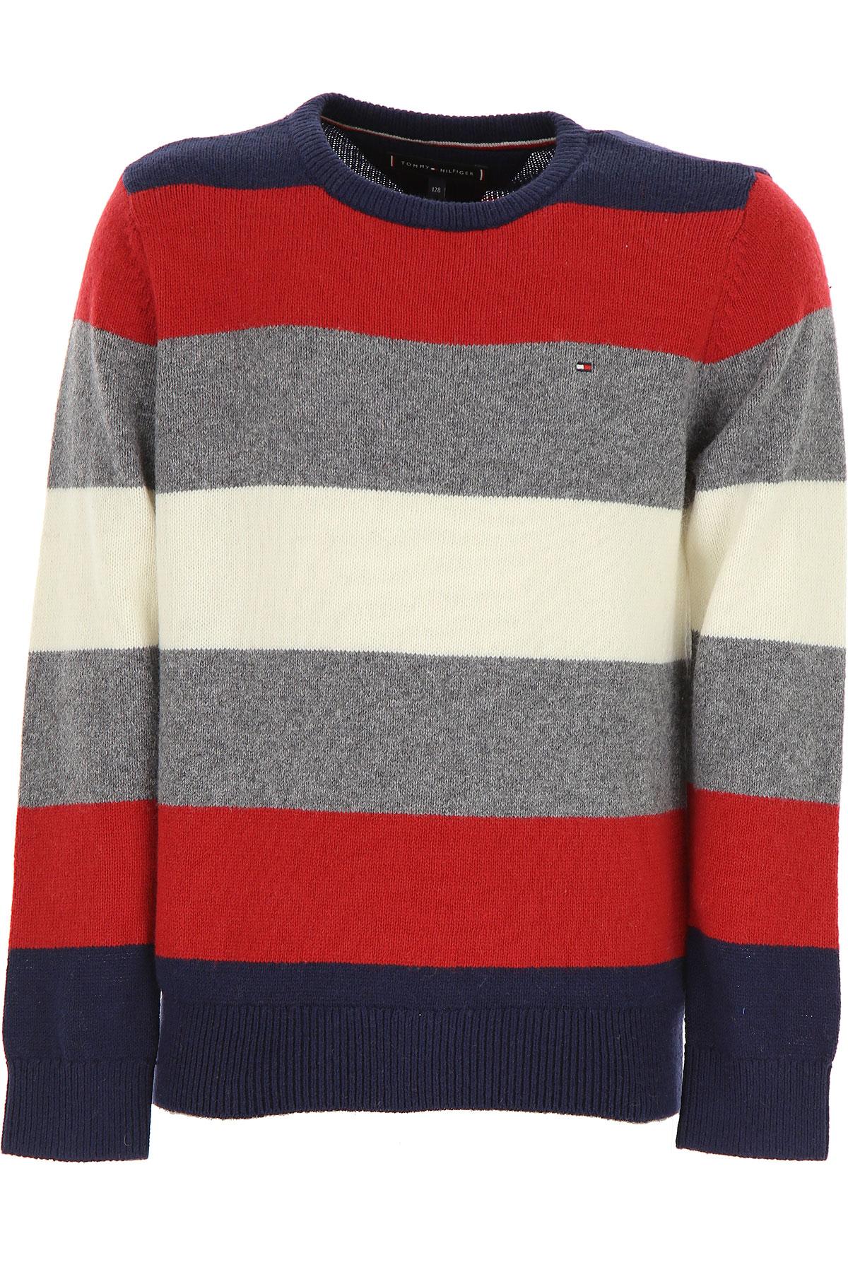Tommy Hilfiger Kids Sweaters for Boys, Blue, Cotton, 2017, 10Y 14Y 16Y 2Y 4Y 6Y 8Y USA-479373