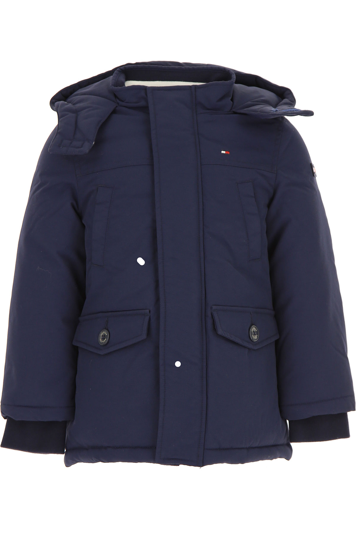Tommy Hilfiger Boys Down Jacket for Kids, Puffer Ski Jacket On Sale, Black Iris, polyami, 2019, 2Y 3Y 4Y 6Y