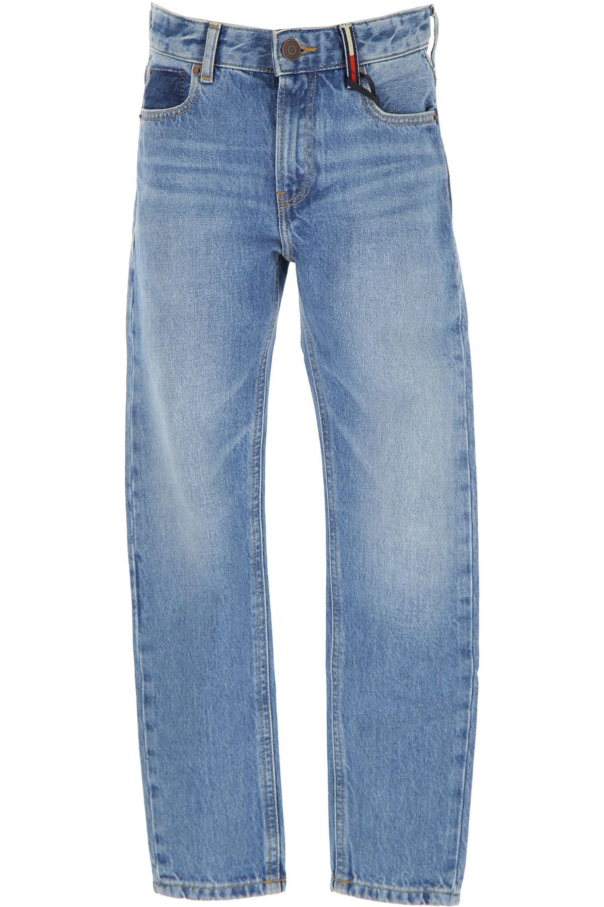 Tommy Hilfiger Kids Jeans for Boys On Sale, Denim Light Blue, Cotton, 2019, 10Y 14Y