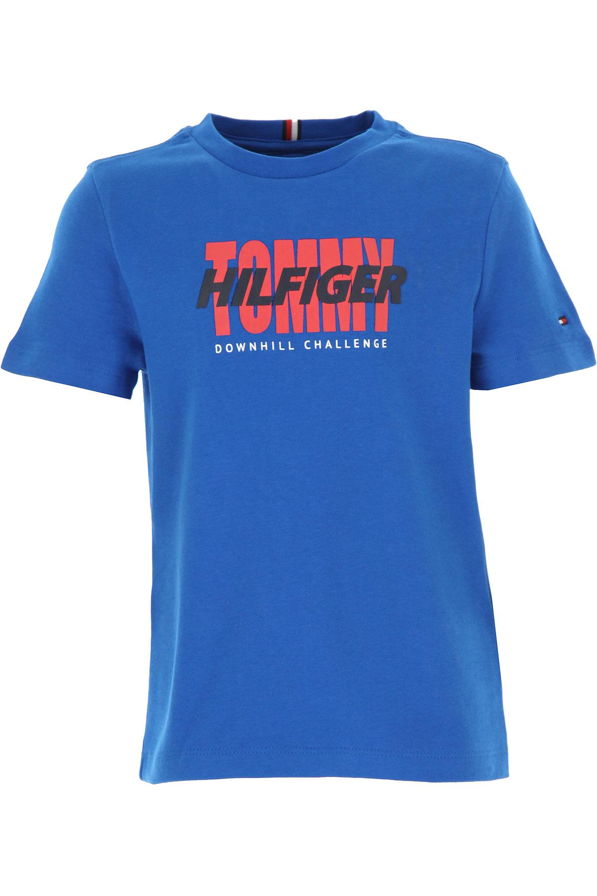 Tommy Hilfiger Kids T-Shirt for Boys On Sale, Electric Blue, Cotton, 2019, 12Y 4Y 6Y
