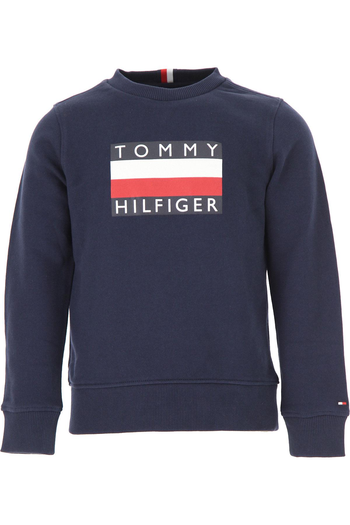 Tommy Hilfiger Kids Sweatshirts & Hoodies for Boys On Sale, Midnight Blue, Cotton, 2019, 4Y 6Y
