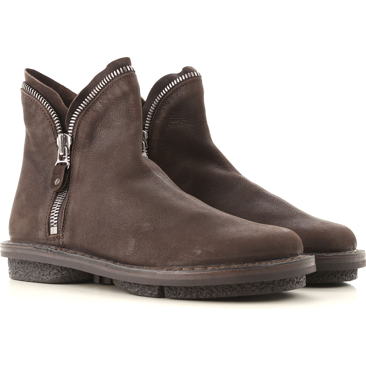Image of Trippen Boots for Women, Booties, Coffee, Leather, 2017, 10 11 7 8 9
