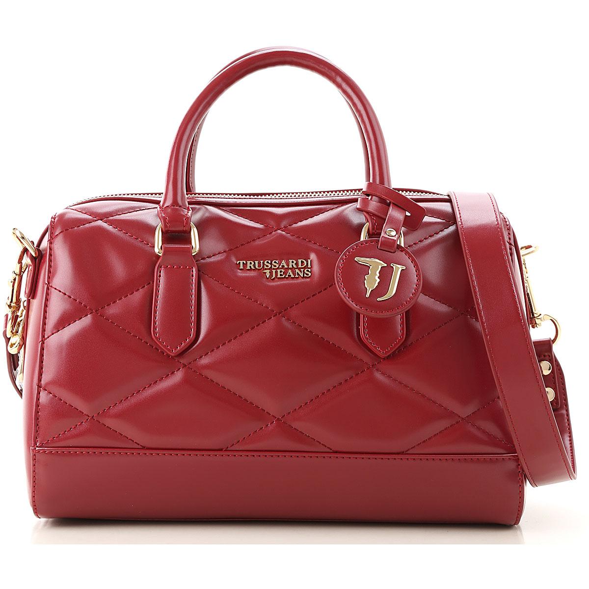 Trussardi Top Handle Handbag On Sale, Garnet, Eco Leather, 2019