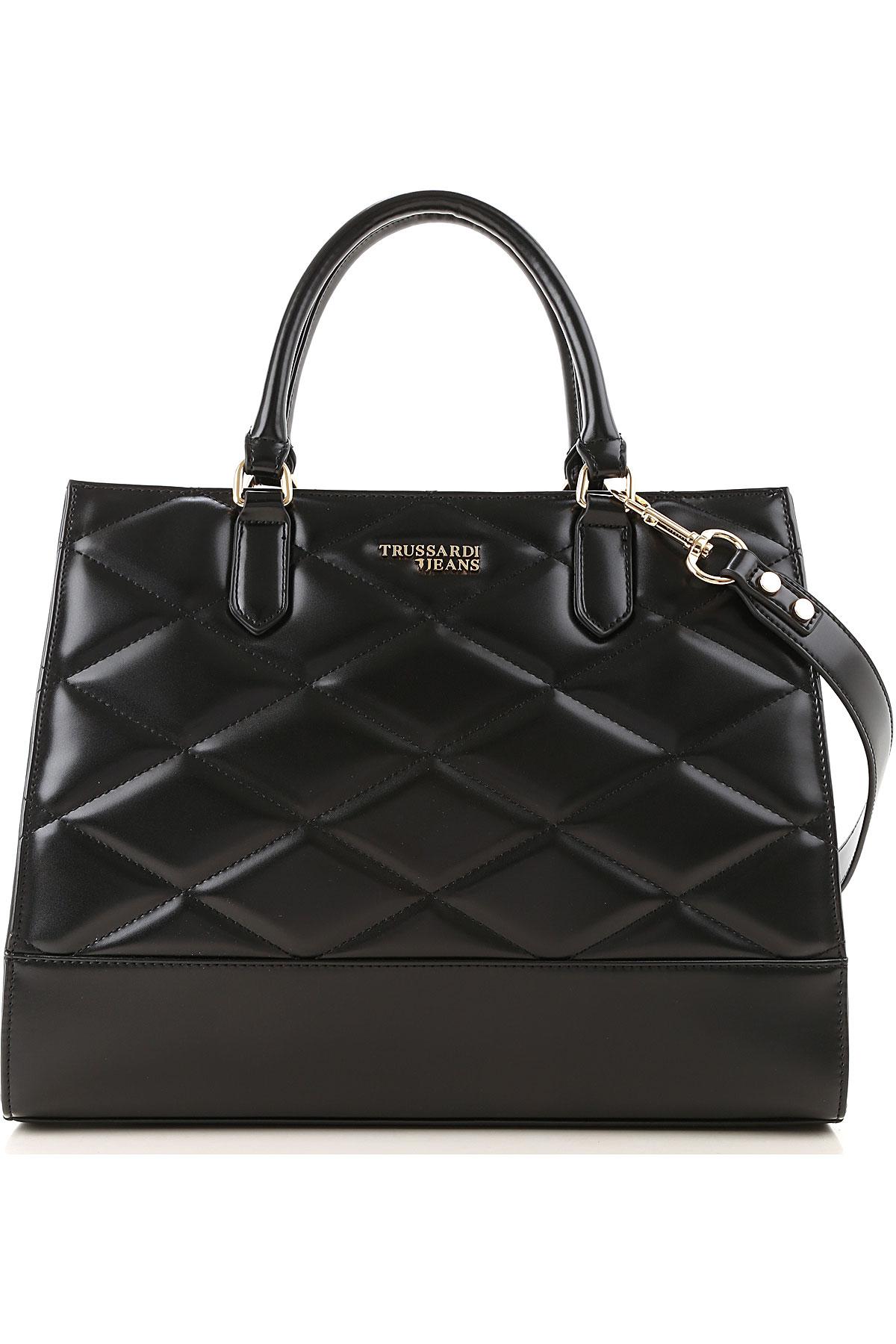 Trussardi Top Handle Handbag On Sale, Black, Eco Leather, 2019