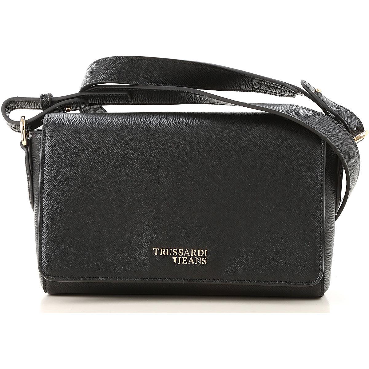 Trussardi Shoulder Bag for Women On Sale, Black, Eco Leather, 2019