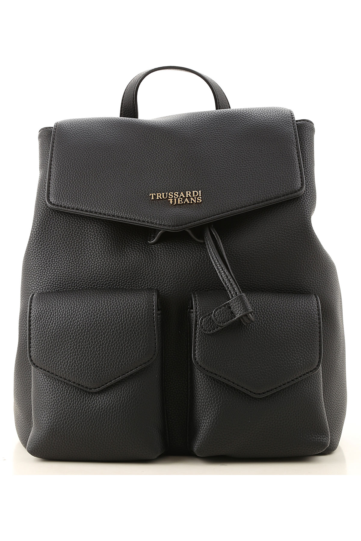 Trussardi Backpack for Women On Sale, Black, Leather, 2019