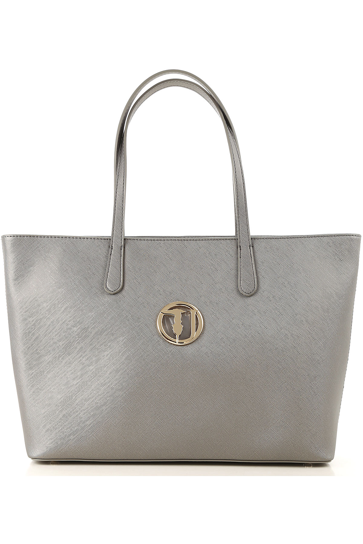 Trussardi Tote Bag On Sale, Gunmetal, Eco Leather, 2019