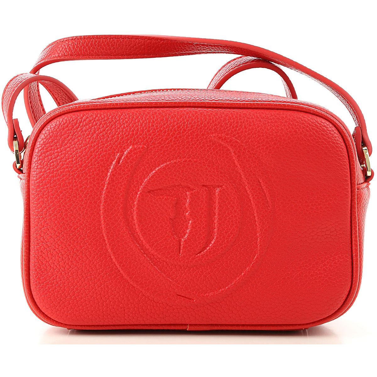 Trussardi Shoulder Bag for Women On Sale, Red, Eco Leather, 2019