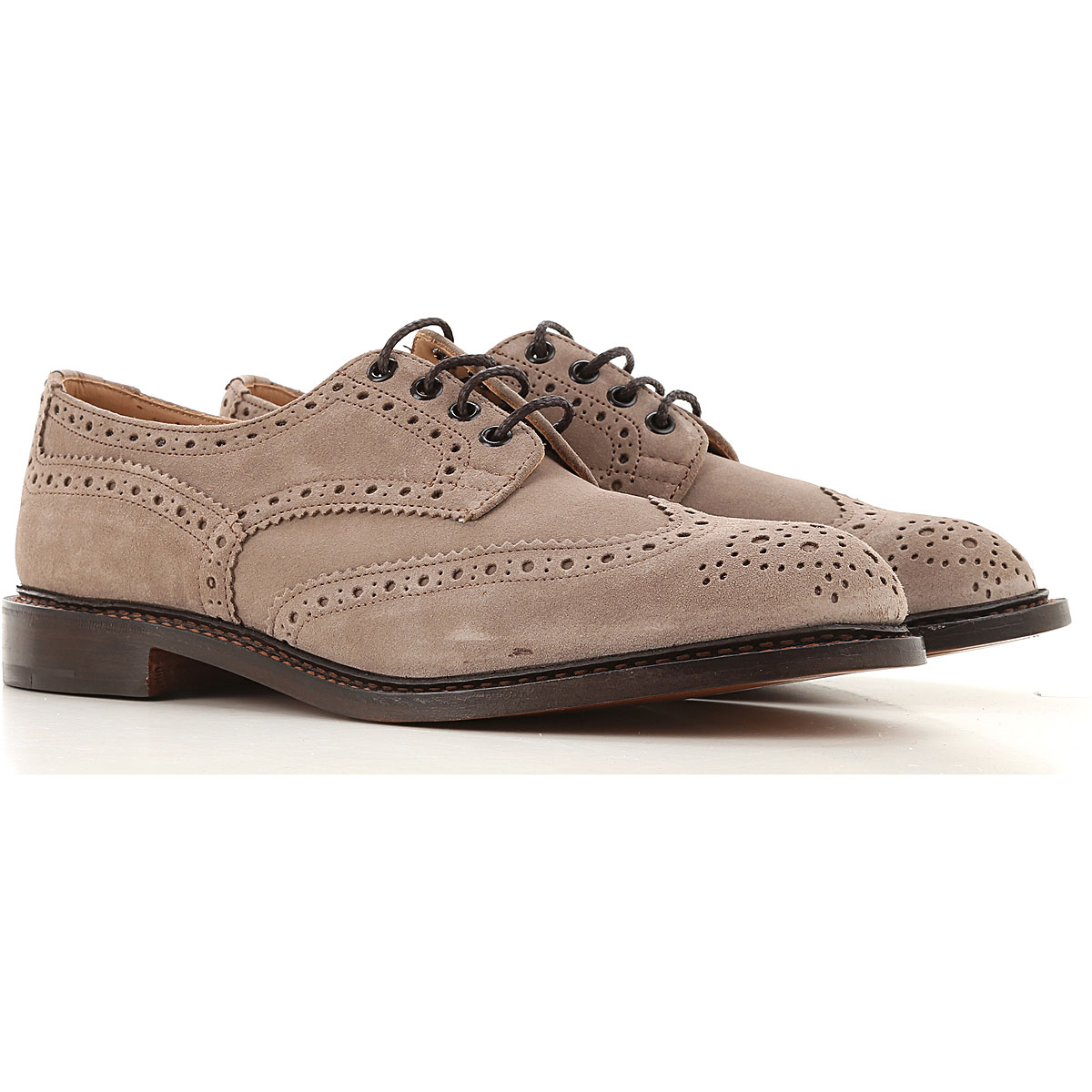 Trickers Lace Up Shoes for Men Oxfords, Derbies and Brogues On Sale, Taupe, suede, 2019, 10 11 8 9