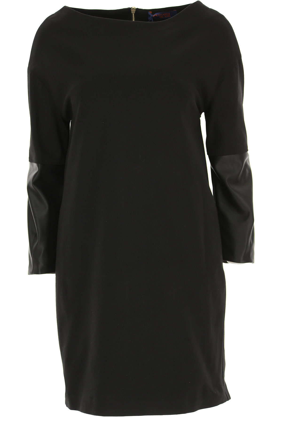 Image of Trussardi Dress for Women, Evening Cocktail Party, Black, Viscose, 2017, 2 4 6 8