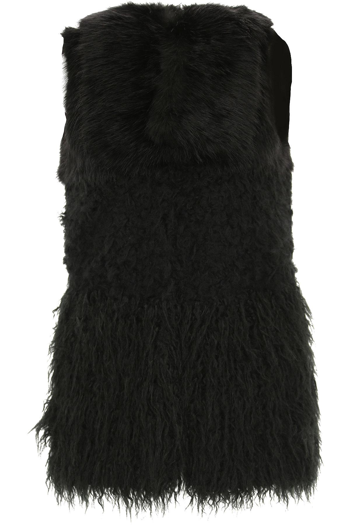 Image of Trussardi Jacket for Women, Black, Acrylic, 2017, 2 4 6 8