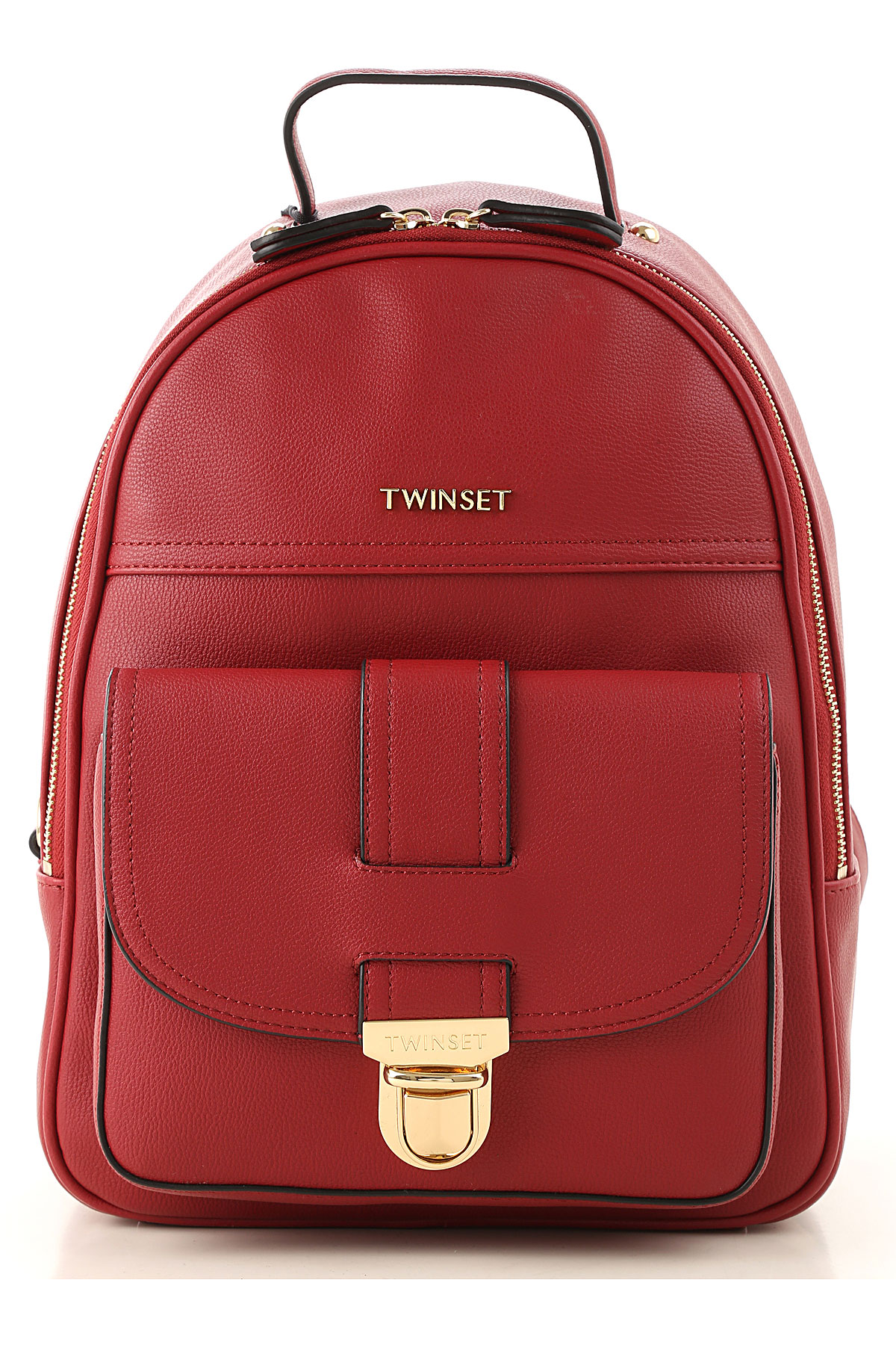 Twin Set by Simona Barbieri Backpack for Women On Sale, Indian Red, polyurethane, 2019
