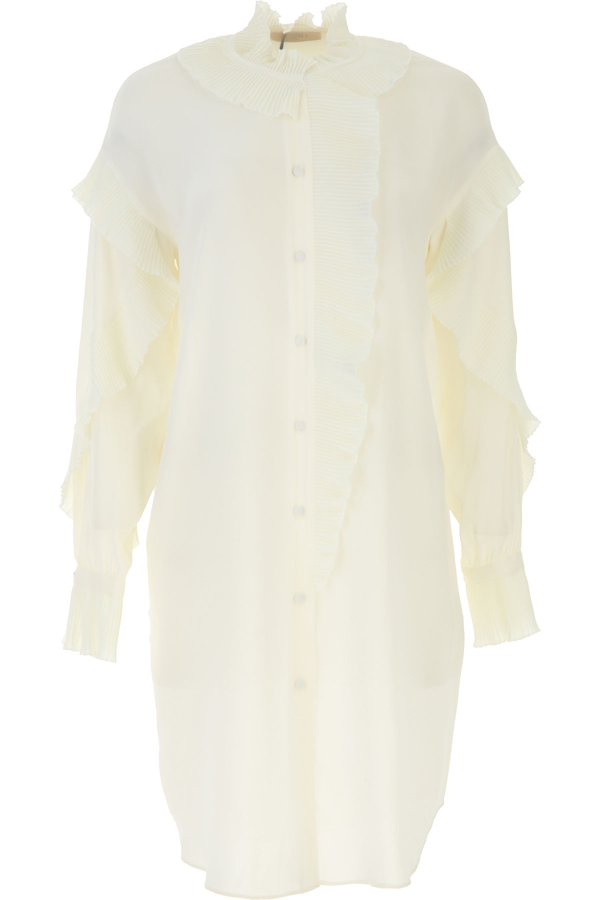 Twin Set by Simona Barbieri Dress for Women, Evening Cocktail Party On Sale, Cream, viscosa, 2019, 4 6 8