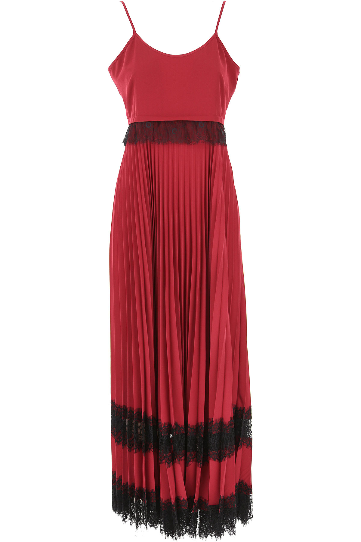 Twin Set by Simona Barbieri Dress for Women, Evening Cocktail Party On Sale, Beet Red, polyester, 2019, 1 (S - 40/42) 2 (M - 42/44) 3 (L - 44/46)