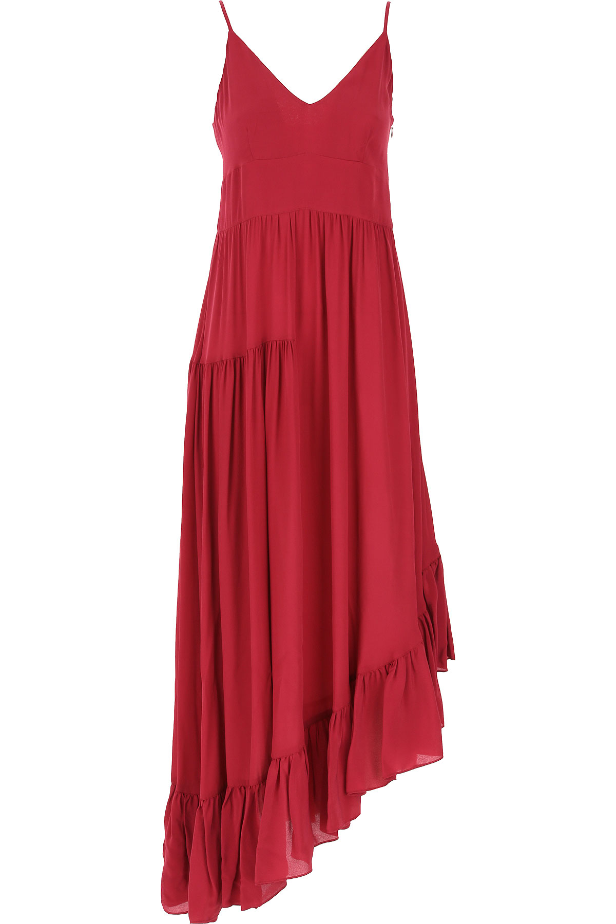 Twin Set by Simona Barbieri Dress for Women, Evening Cocktail Party On Sale, Beet Red, Viscose, 2019, 1 (S - 40/42) 3 (L - 44/46) 4 (XL - 46/48)