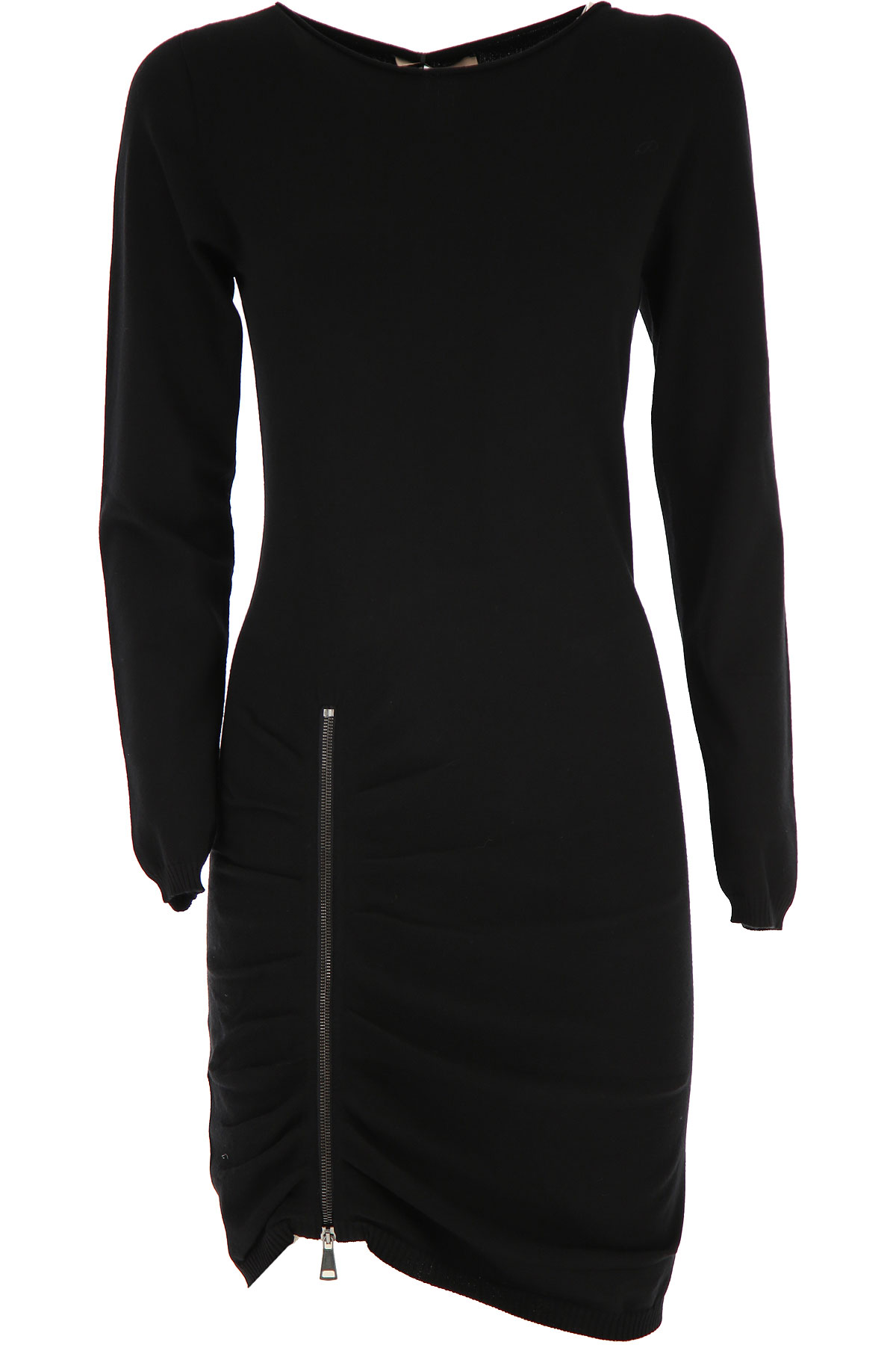 Twin Set by Simona Barbieri Dress for Women, Evening Cocktail Party On Sale, Black, Viscose, 2019, S