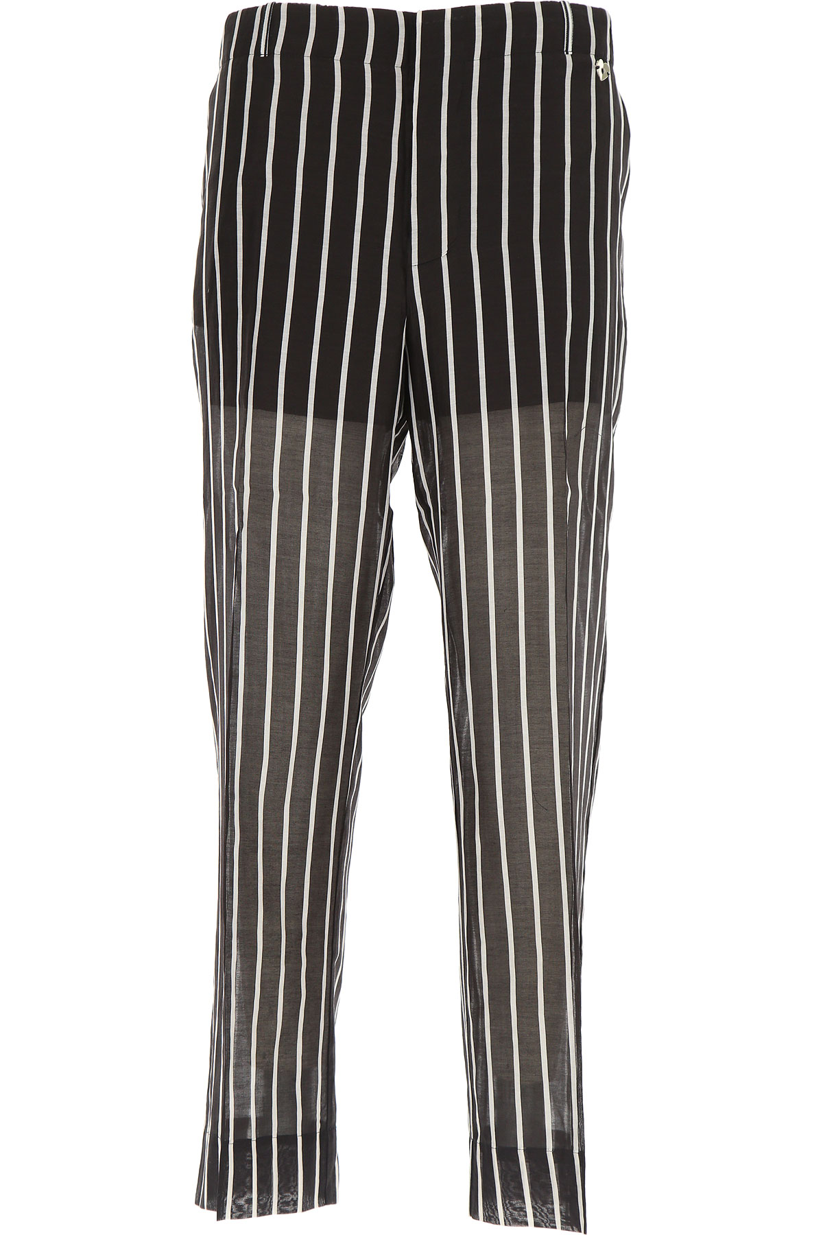 Twin Set by Simona Barbieri Pantalon Femme, Noir, Coton, 2017, 40 40 42 42 44 44 46 46